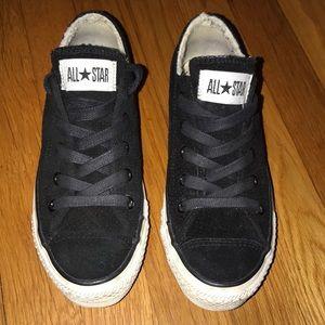 Unisex black suede converse sneakers